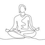 yoga meditate linedrawing